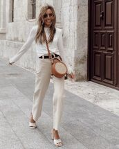 shoes,sandal heels,high waisted jeans,round sunglasses,white top