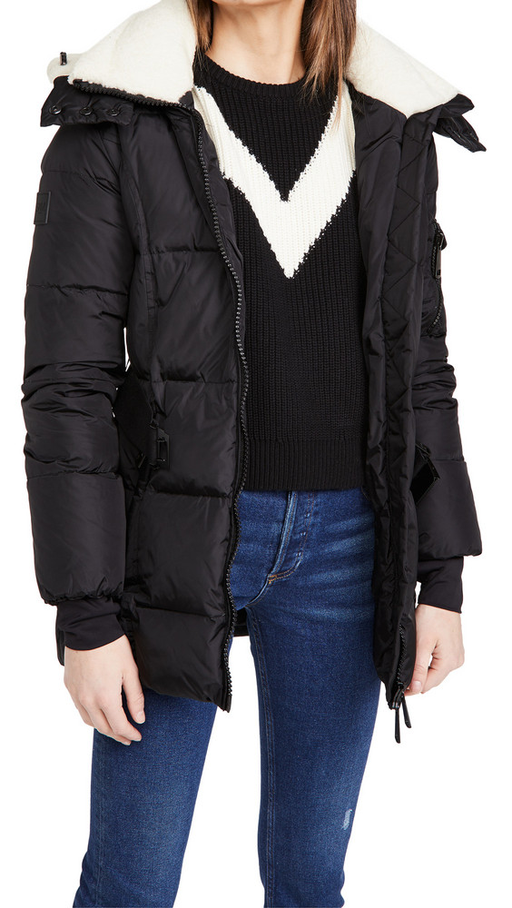 SAM. SAM. Casey Jacket with Shearling in black