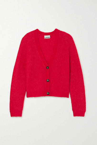 GANNI - Knitted Cardigan - Red
