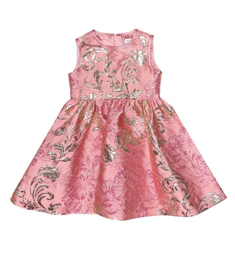 Dolce & Gabbana Kids Baby floral brocade dress in pink