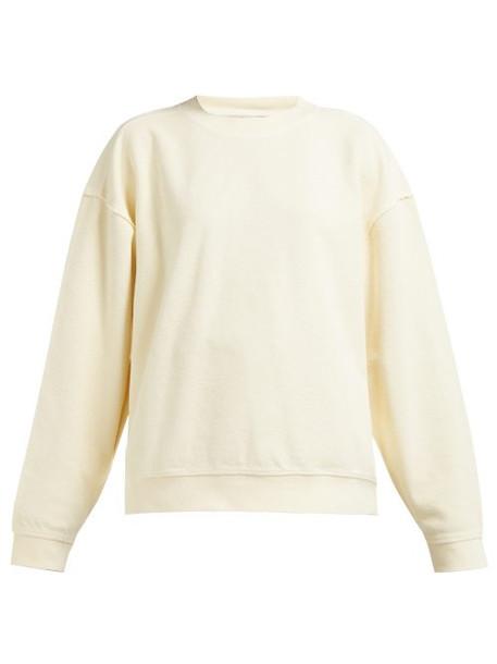 Acne Studios - Loop Back Cotton Sweatshirt - Womens - Cream