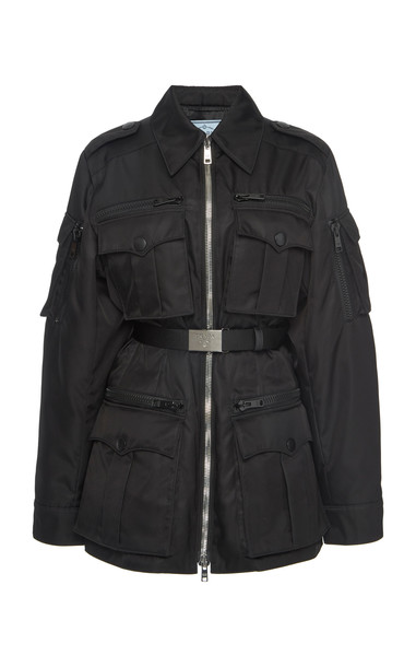 Prada Belted Shell Military Jacket Size: 40