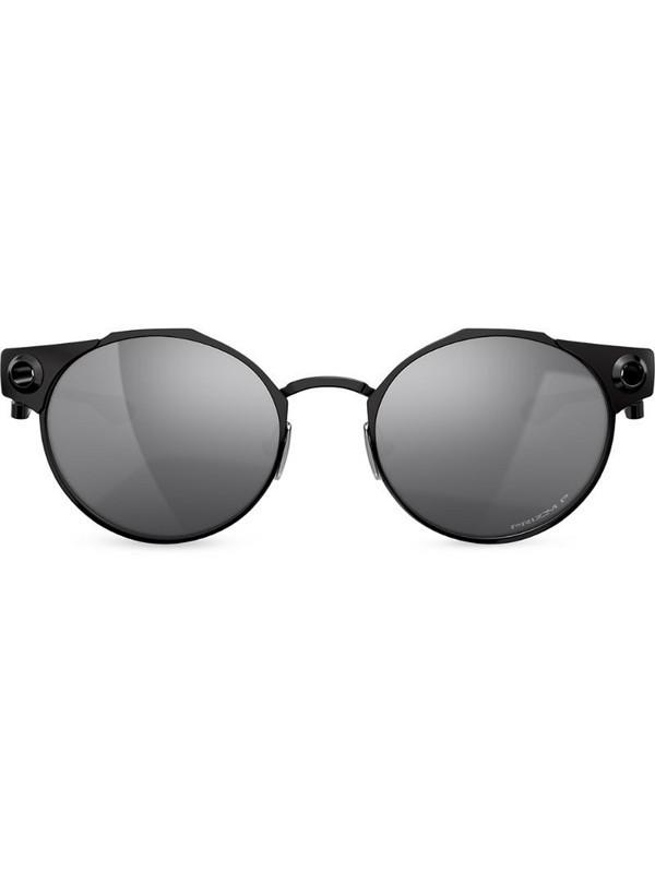 Oakley Deadbolt round-frame sunglasses in black