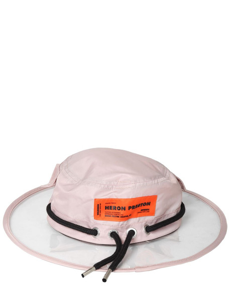 HERON PRESTON Pvc & Nylon Rain Hat in pink