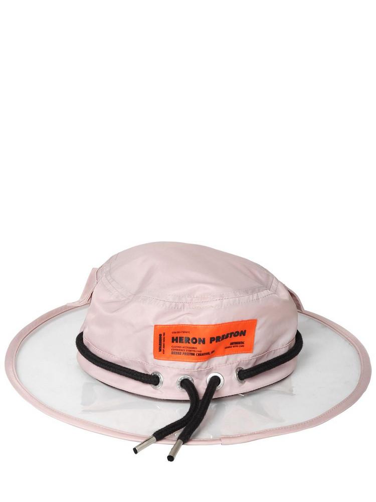 HERON PRESTON Pvc & Nylon Rain Hat in pink