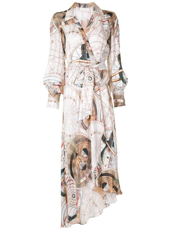 Ginger & Smart abstract-print wrap dress