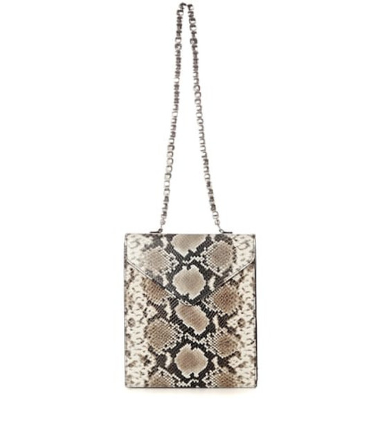 By Far Allegra leather shoulder bag in beige