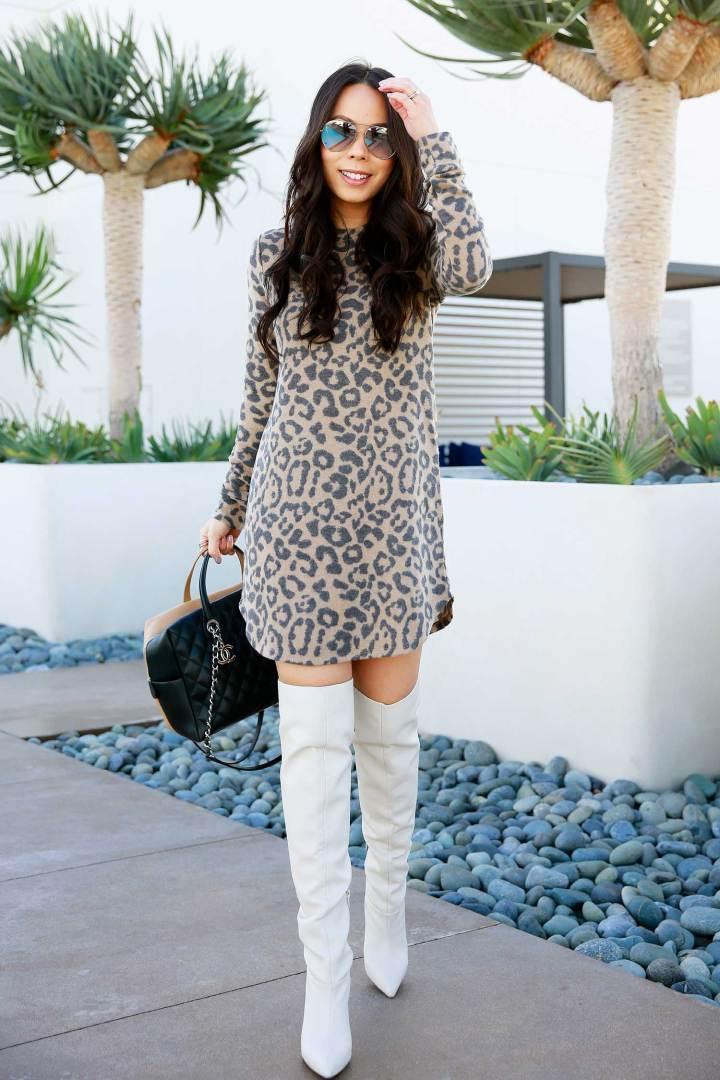 hautepinkpretty blogger sunglasses shoes sweater dress bag