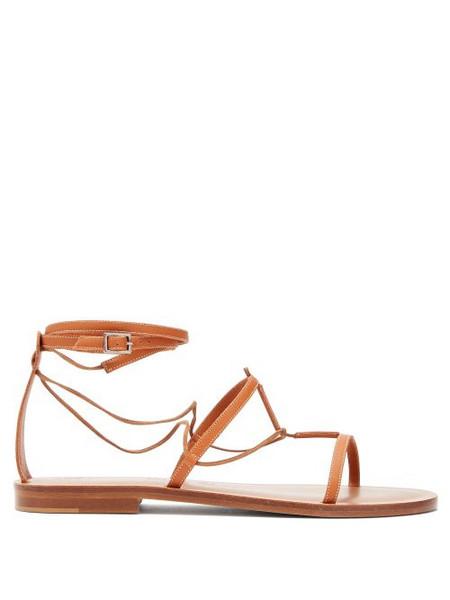 Álvaro Álvaro - X Kim Hersov Leather Sandals - Womens - Tan