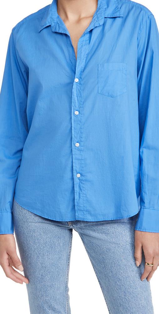 Frank & Eileen Eileen Button Up Shirt in cobalt