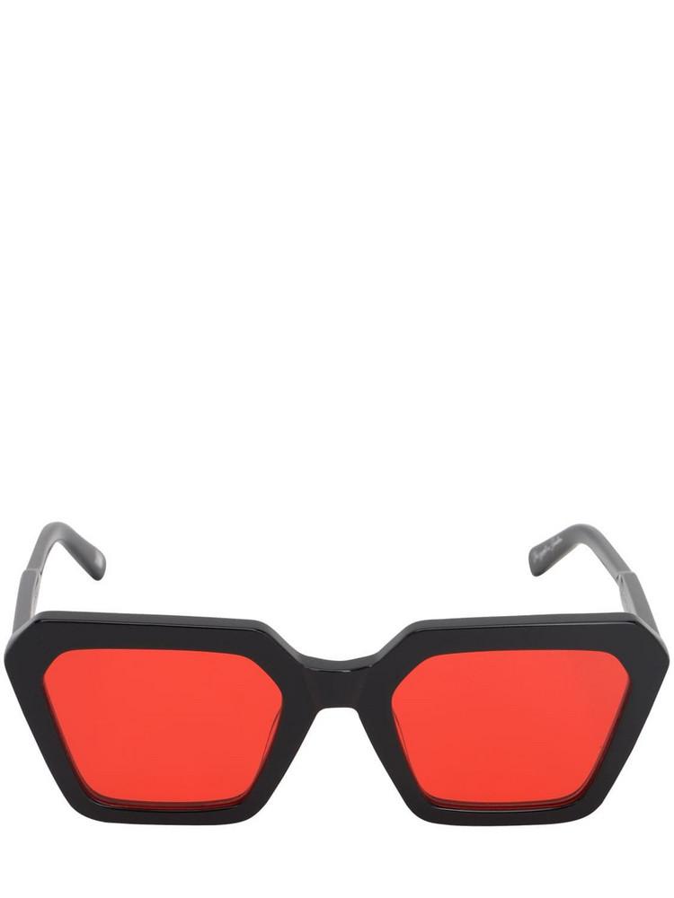 CHIMI Laser Liquid Semi Acetate Sunglasses in black / red