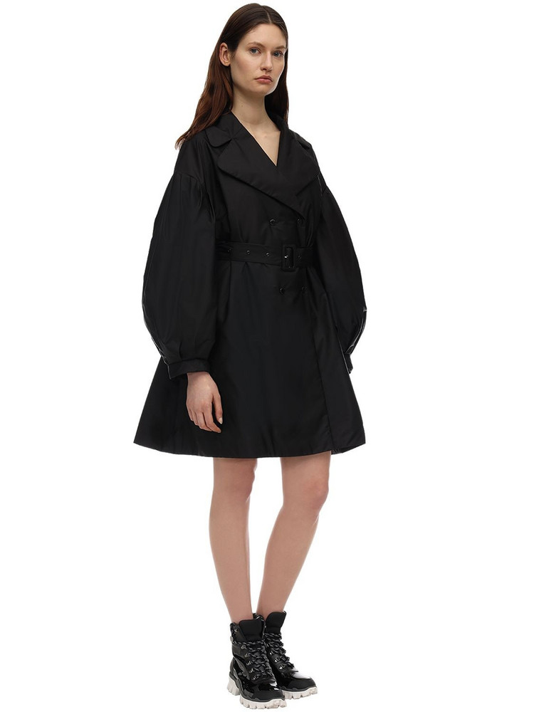 MONCLER GENIUS Simone Rocha Down Trench Coat in black