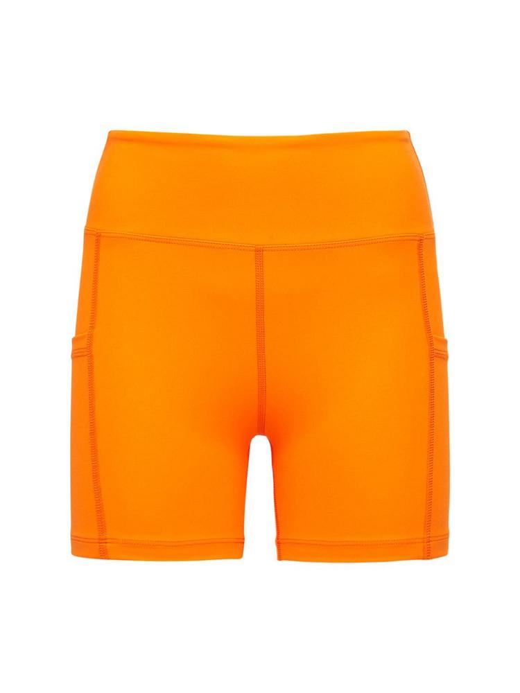 YEAR OF OURS High Waist Biker Shorts in orange