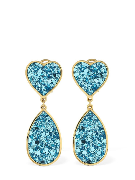 SHOUROUK Kim Glitter Earrings in blue