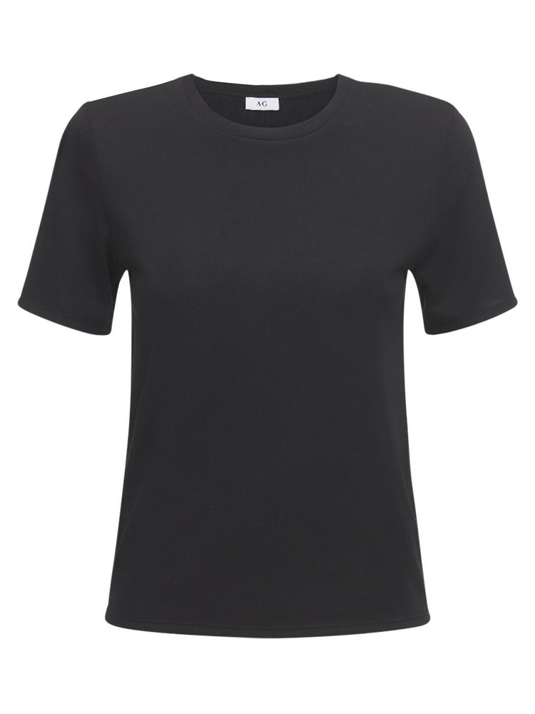 AG Cotton Blend T-shirt in black