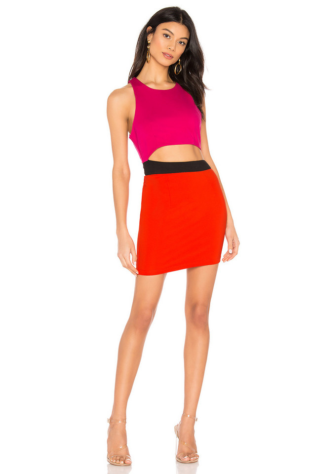 by the way. Mishel Color Block Dress in pink