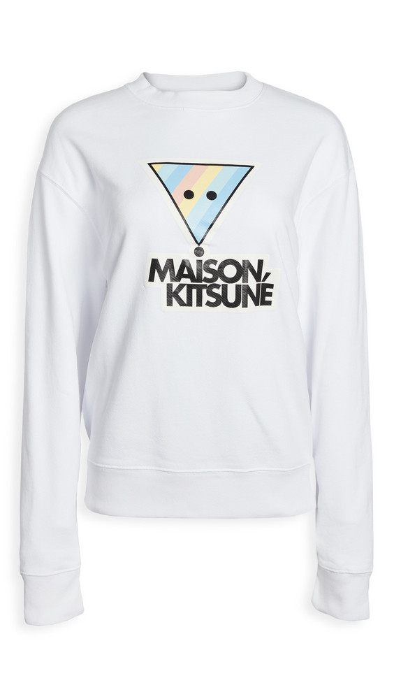 Maison Kitsune Sweatshirt Hologram Maison Kitsune Paris in white