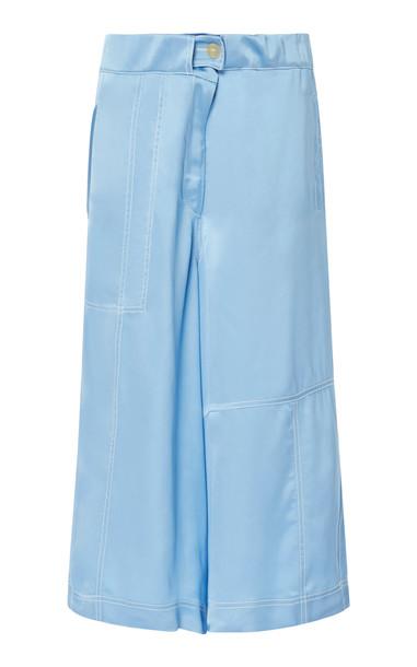 Loewe Oversized Satin Shorts Size: 38 in blue