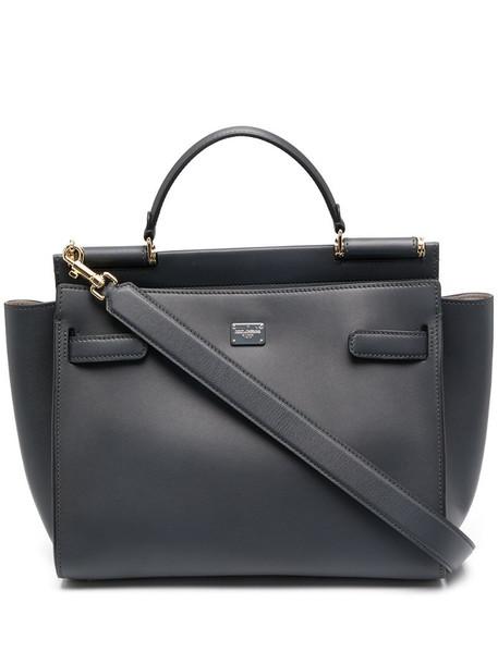 Dolce & Gabbana logo patch tote bag in grey