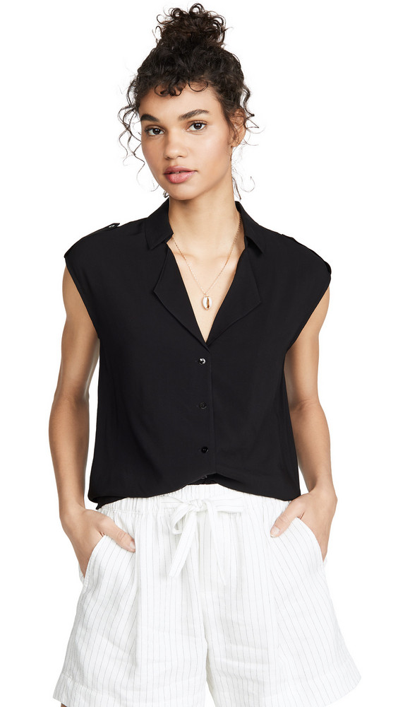 L'AGENCE Farina Sleeveless Blouse in black