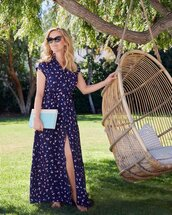 dress,navy,navy dress,reese witherspoon,celebrity,spring dress,maxi dress