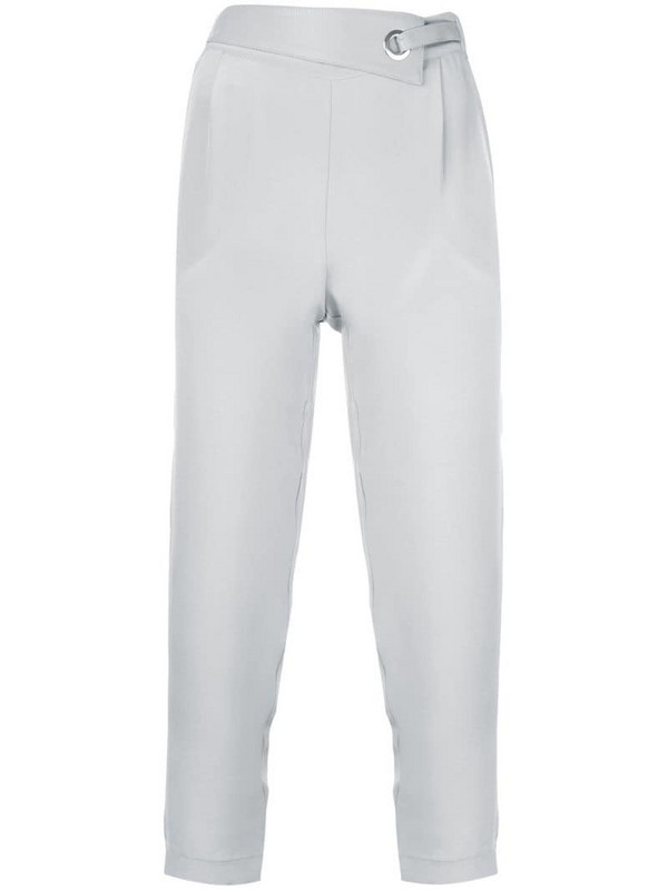 Max & Moi eyelet detail cropped trousers in grey