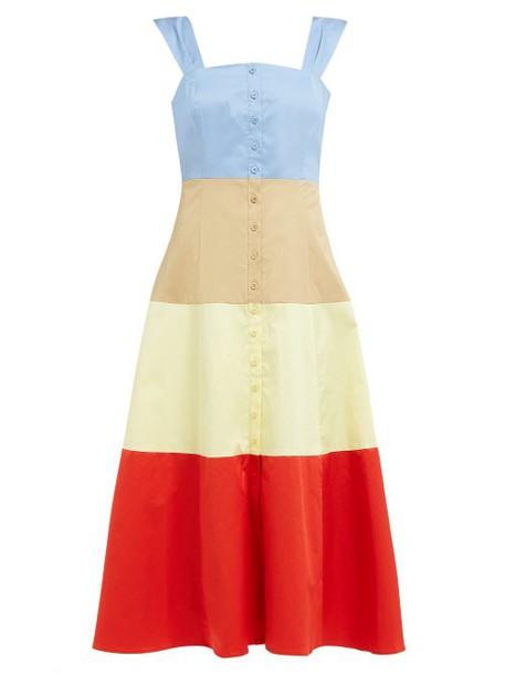 Staud - Ariel Block Stripe Cotton Poplin Midi Dress - Womens - Multi