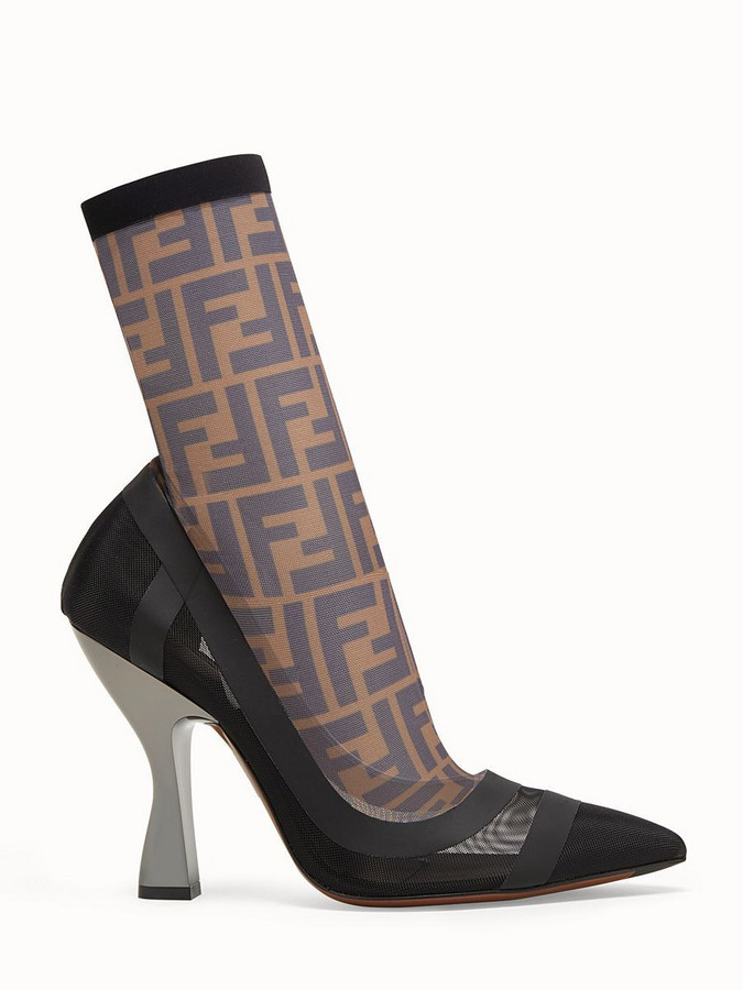 Fendi Colibrì Ankle Boot Ff in brown
