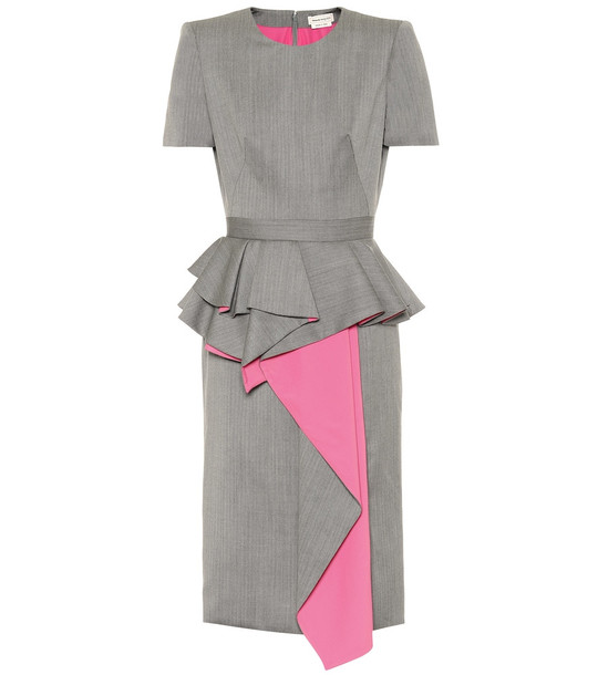 Alexander McQueen Wool dress in grey