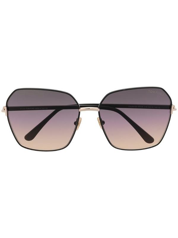 Tom Ford Eyewear square-frame gradient-lens sunglasses in black