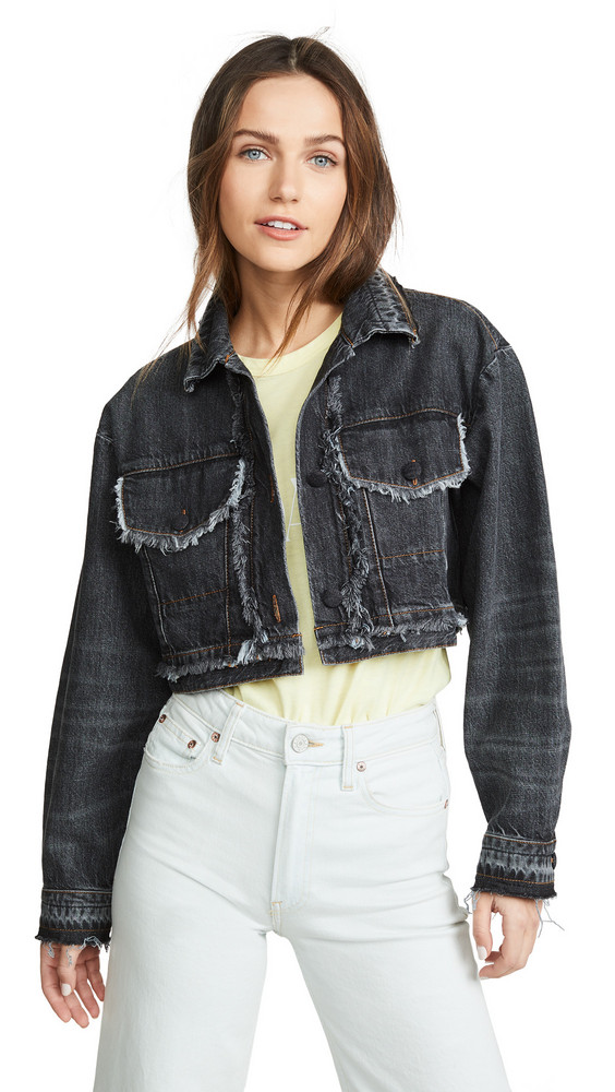 Ksenia Schnaider Cropped Jacket in denim / grey / denim