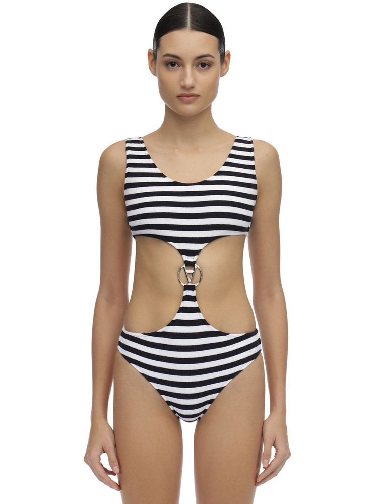 FILLES A PAPA Ariana One Piece Swimsuit in black / white