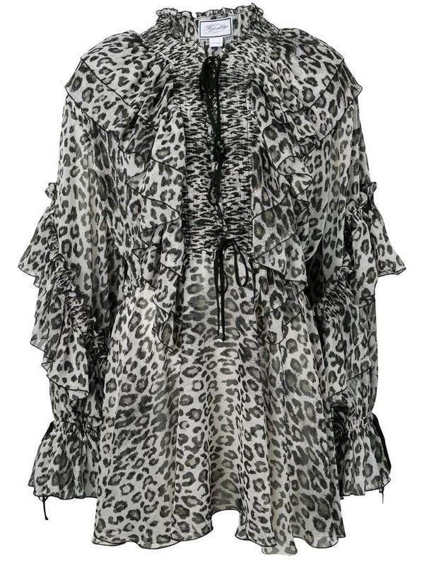 Redemption leopard print dress in black