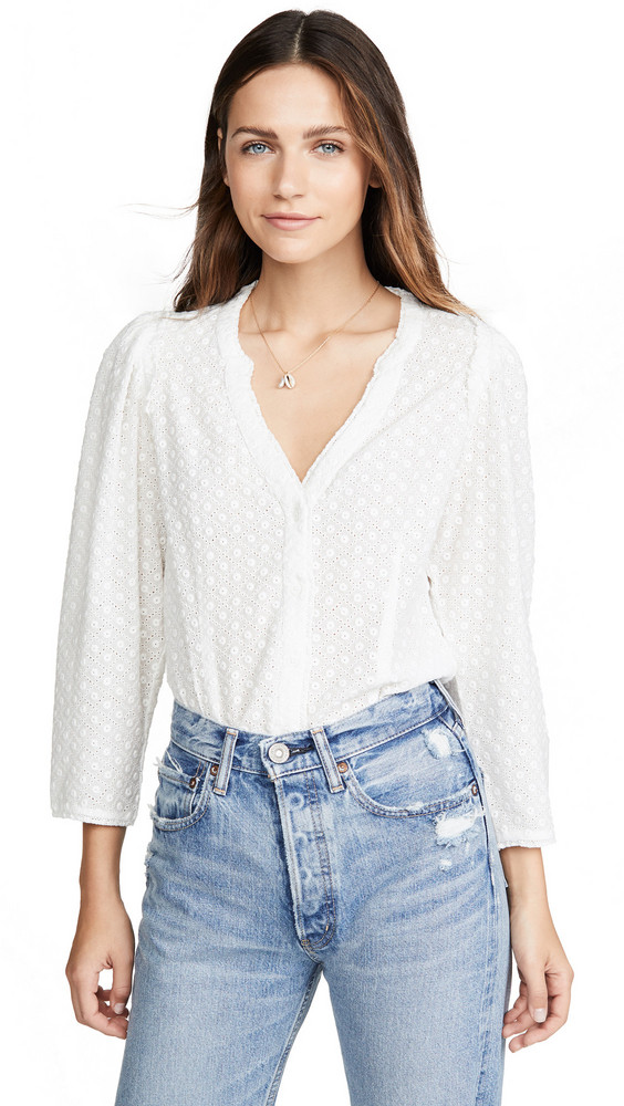 PAIGE Alanie Blouse in white