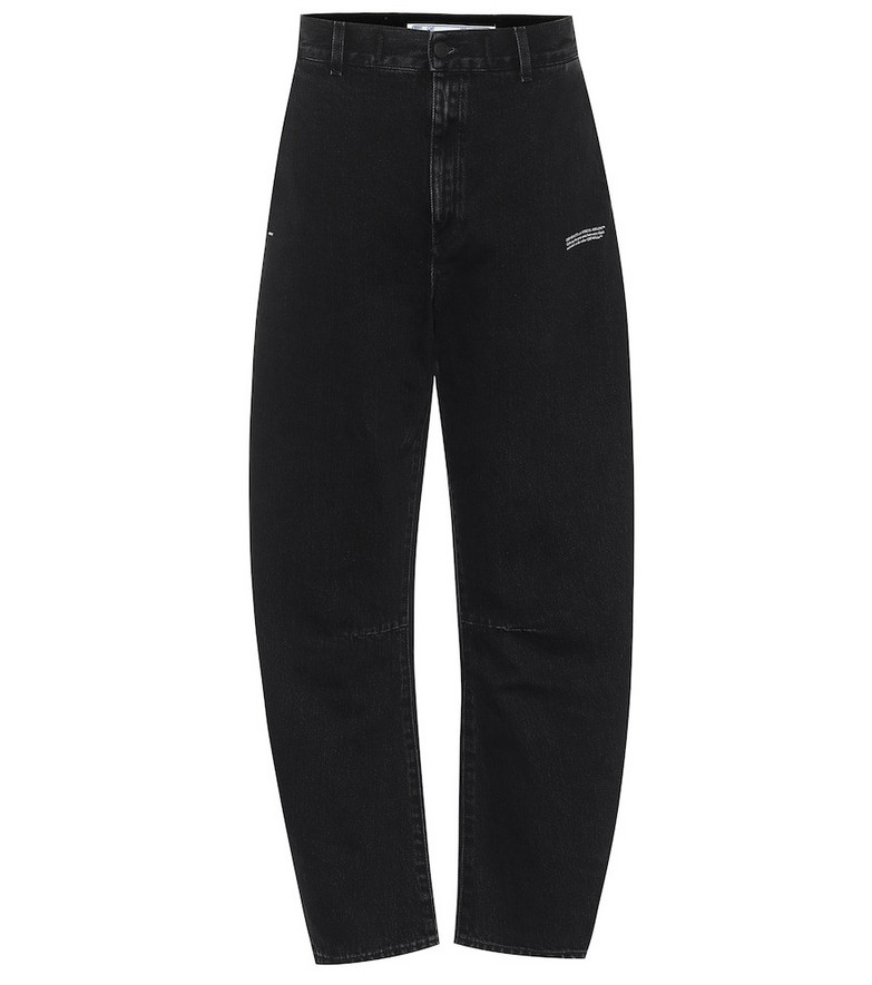 Off-White High-rise tapered jeans in black