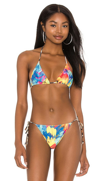 Melissa Simone Linda String Bikini Top in multi