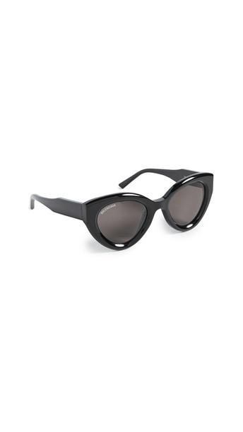 Balenciaga Agent Bold Cat Eye Sunglasses in black / grey