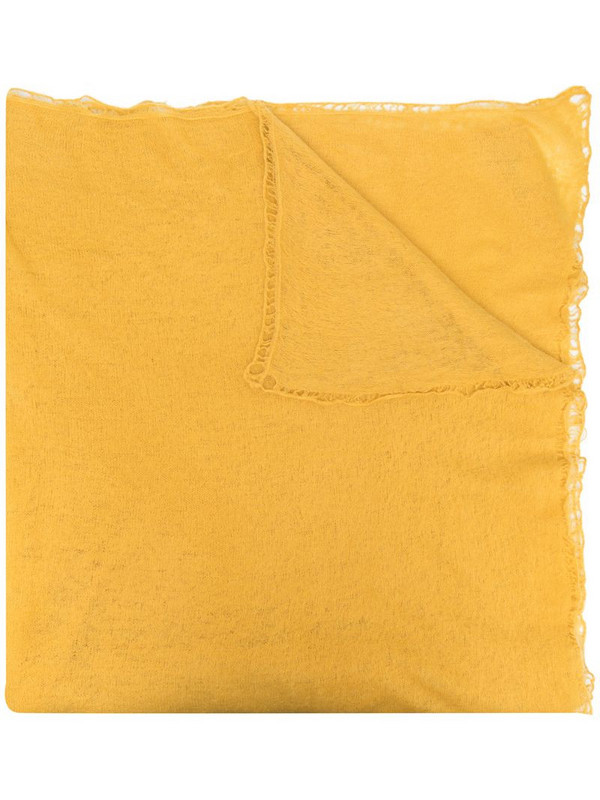 Warm-Me Nomad cashmere scarf in yellow