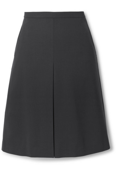 Theory - Pleated Wool-blend Skirt - Navy
