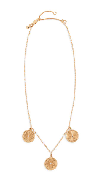 Madewell Triple Coin Pendant Necklace in gold