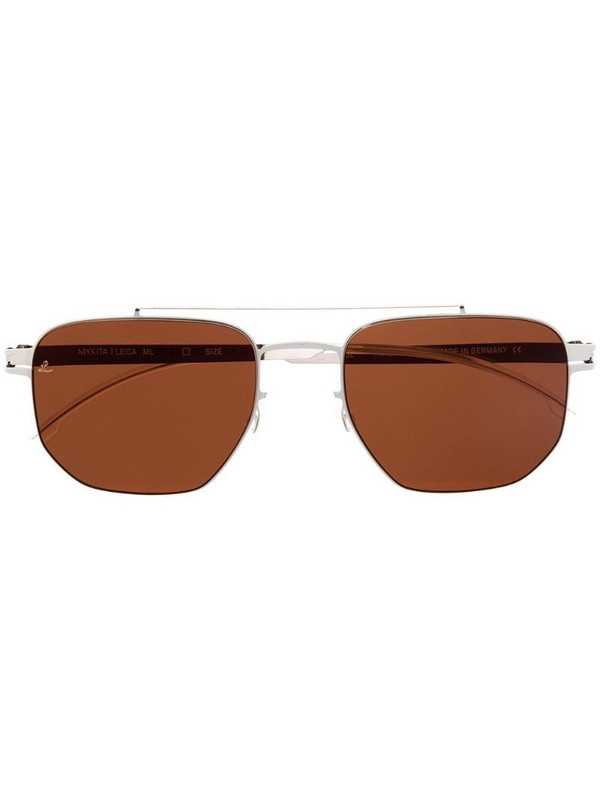 Mykita tinted square-frame sunglasses in silver
