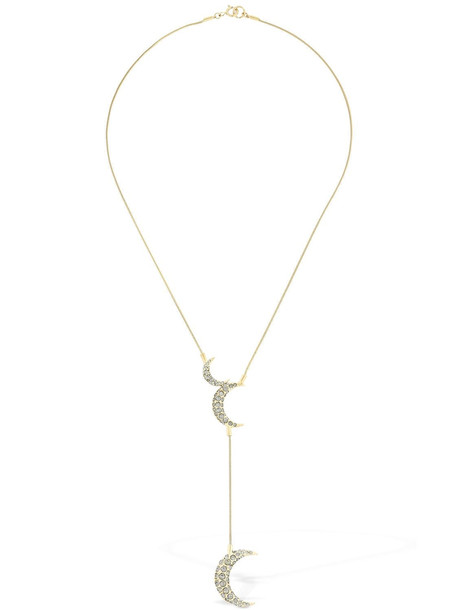 ISABEL MARANT Long Full Moon Crystal Necklace in gold