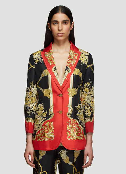 Gucci Flowers and Tassels Jacket in Red size IT - 40
