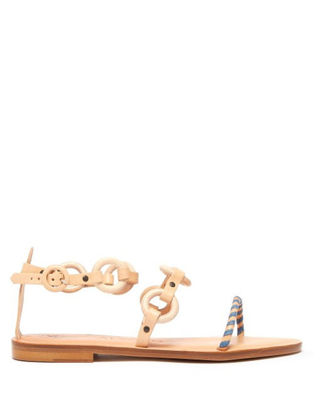 Álvaro Álvaro - Ali Wood And Leather Sandals - Womens - Light Tan