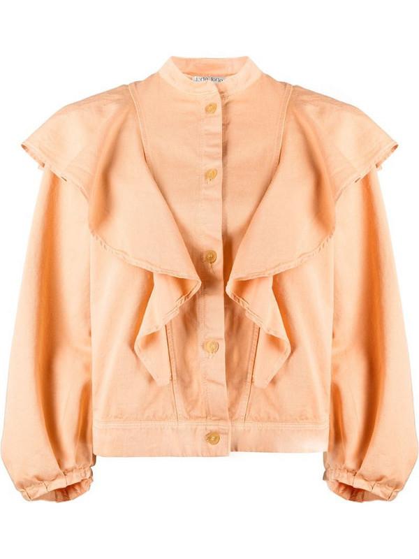 Forte Forte ruffled neck blouse in orange