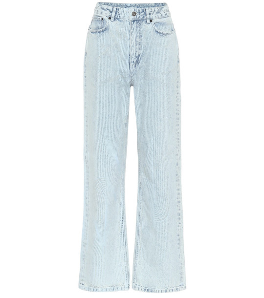 Y/PROJECT High-rise wide-leg jeans in blue
