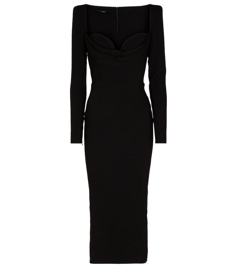 Alex Perry Corin stretch-crêpe midi dress in black