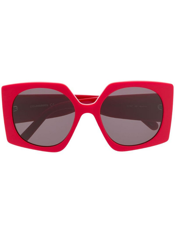 Courrèges Eyewear square tinted sunglasses in red
