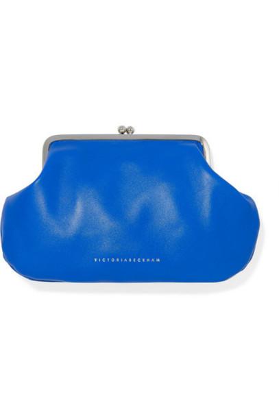 Victoria Beckham - Pocket Leather Clutch - Blue