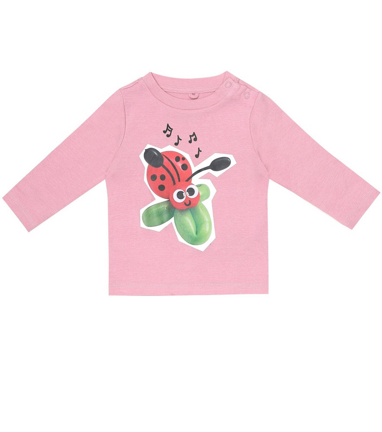 Stella McCartney Kids Baby printed cotton T-shirt in pink